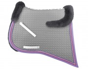 Baroque saddle pad with lambskin panels-personnalisable - Mattes